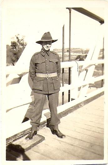 Ron In Army Uniform - abt. 1942
